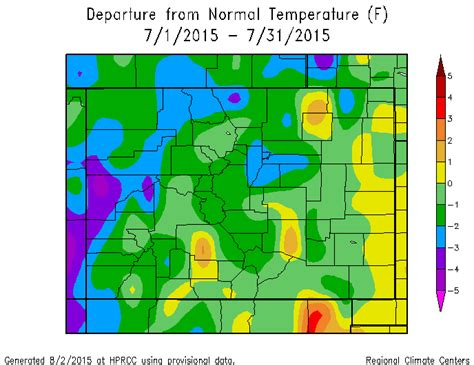 colorado average temperature map july 2015 climate review and august preview across southern co