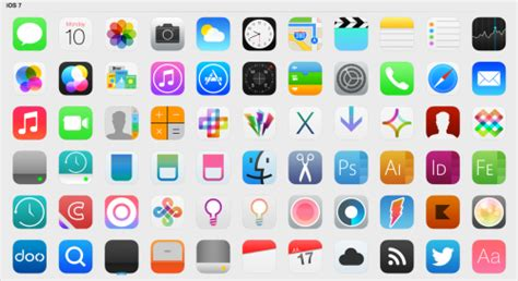 iphone icon template useful ios7 icon templates and ui kits for app developers