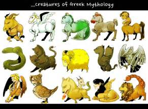 Some creatures from greek myth by porifra on deviantart