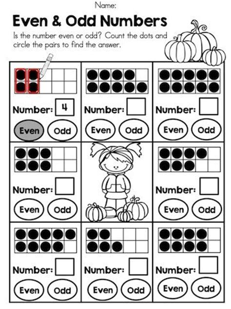 even numbers even numbers books autumn kindergarten math worksheets ten frames circles