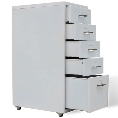 5 drawer file cabinet metal filing cabinet with 5 drawers gray vidaxl com