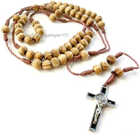 wood bead rosary necklace catholic wood rosary necklace wooden prayer st