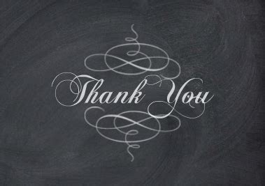 chalkboard thank you card template unbelieveable picture chalkboard thank you cards exmaple
