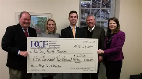 valley youth house valley youth house awarded 1 250 grant from delaware county community foundation