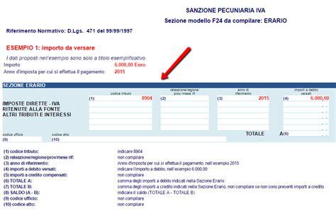 codice ufficio f24 ravvedimento operoso il codice tributo 8904 pmi it
