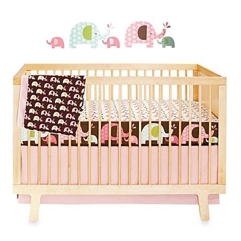 Skip Hop 174 Pink Elephant Complete Sheet 4 Piece Crib Skip Hop Crib Bedding