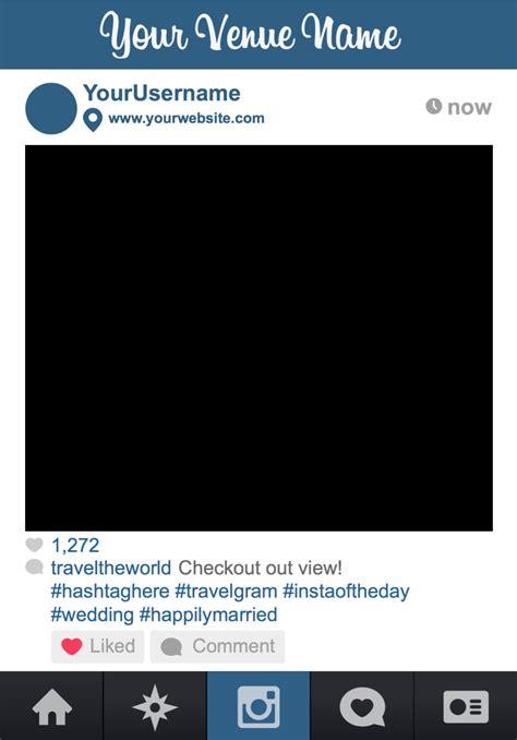 cornici foto instagram instagram personalizzabile come photobooth cornice per