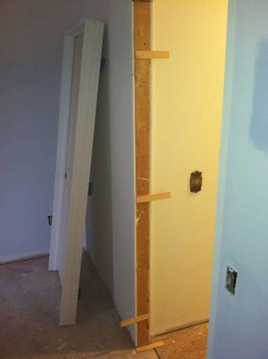 How To Hang Interior Doors Installing A Prehung Interior Door With Shims Chickfilecloud