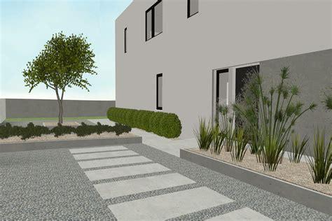 vorgarten mit kies gestalten gartenplanung stein auf stein 187 die gartenplanung ist schon in vollem gange