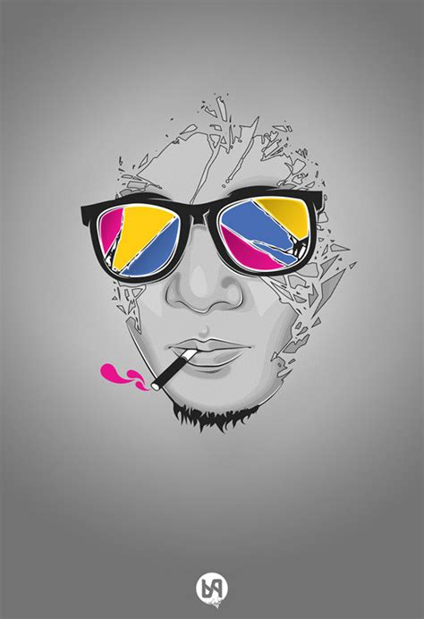 cool vector art portraits web graphic design bashooka