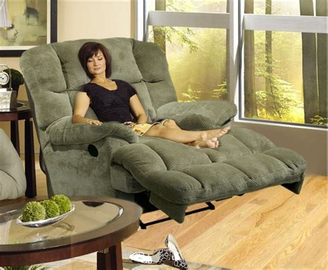 Indoor Chaise Lounge Chair Jackpot Reclining Chaise In Sage Or Chocolate Microfiber