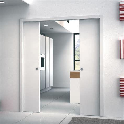 Porte Coulissante 2 Vantaux Interieur by Ch 226 Ssis Pour Porte Coulissante 224 Galandage Deux Vantaux