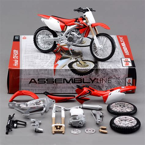 Miniatur Diecast Replika Motor Ktm 450 Sx R 118 Welly 1 12 h crf450r motorcycle model metal diecast models motor bike miniature race for gift