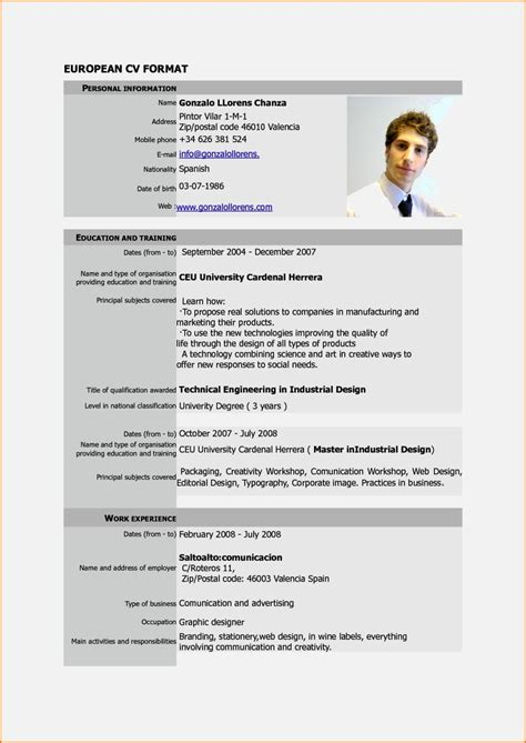 Current Cv Format by Current Cv Format In Nigeria Resume Template Cover Letter