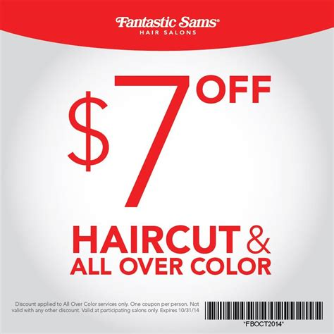 haircut deals minneapolis fantastic sams coupons all salon prices