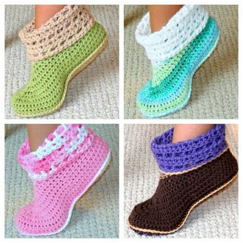 free crochet house slipper patterns free crochet house slippers pattern
