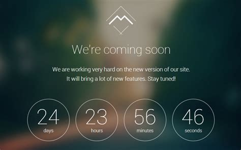 Mira Coming Soon Landing Page Wrapbootstrap Coming Soon Template Free