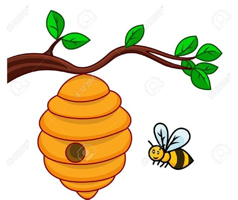 bee hive clip beehive on a tree clipart clipartsgram bees