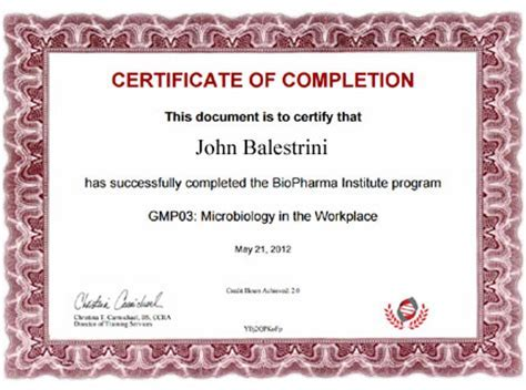 Ojt certificate of completion template un mission resume and sample biopharma institute certificate biopharma yelopaper Choice Image