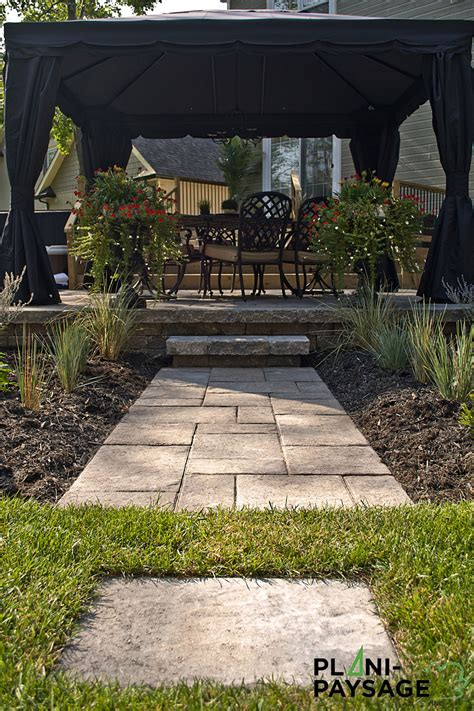 terrasse ext 233 rieure avec un pavillon de jardin plani paysage