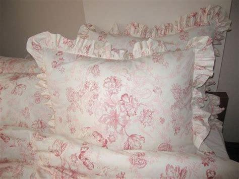 pink floral ruffle euro shams pillow sham 26 inch bedding
