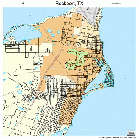 rockport texas map rockport texas map 4862804