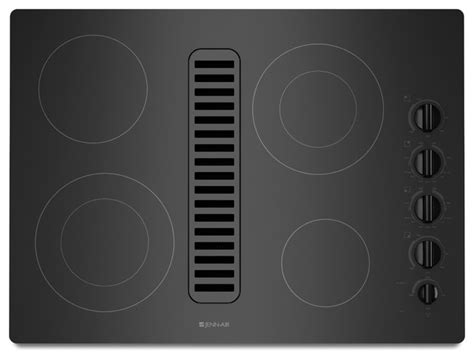Jenn Air Electric Downdraft Cooktop Reviews jenn air 30 quot electric radiant downdraft cooktop black on black jed3430wb cooktops los