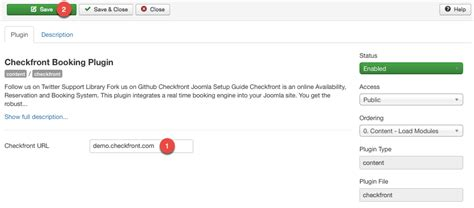url host joomla plugin checkfront online bookings