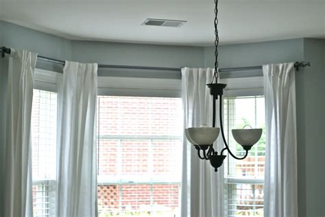 window curtain installation ceiling mount curtain rod for bay window business for