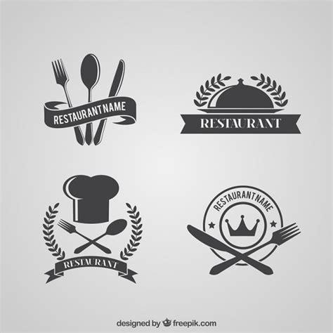 Retro Restaurant Logos Pack Vector Free