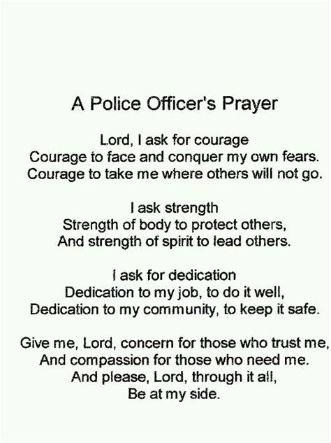 Prayers For Officers by Officer Prayer Quotes Quotesgram