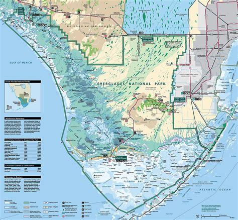 Map of the Everglades Florida Everglades Map