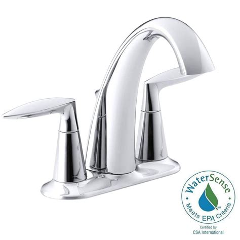 kohler alteo 4 in centerset 2 handle bathroom faucet in