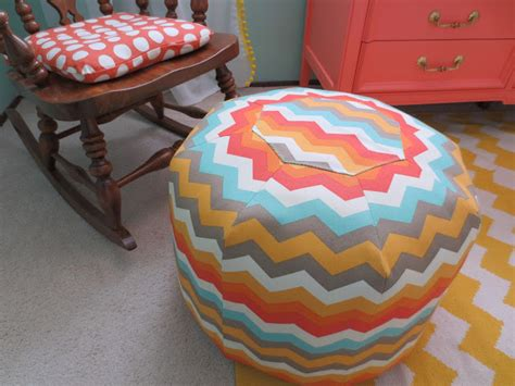 how to make pouf ottoman make bake and love diy chevron pouf ottoman