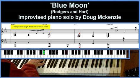 youtube tutorial jazz piano blue moon jazz piano tutorial advanced youtube