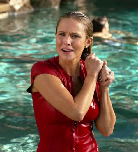 kristen bell in chips pop minute kristen bell swimsuit chips photos photo 3