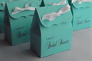 Favors For Wedding Shower by Bridal Shower Favor Bags In Blue With White Ribbon