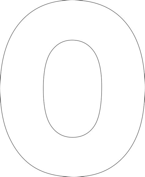 large printable letter o 11 best images of printable alphabet block letter large