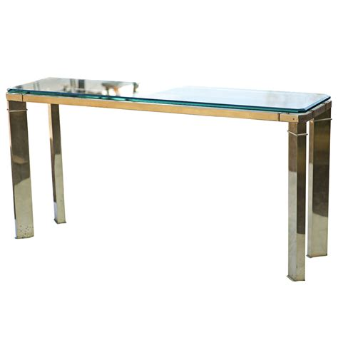 brass sofa table midcentury retro style modern architectural vintage