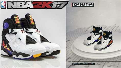 shoe creator nba 2k17 shoe creator air 8 three peat nba 2k17