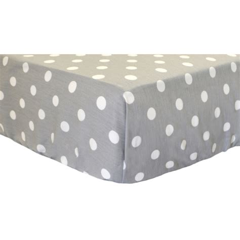 Grey And White Polka Dot Crib Sheet by White On Gray Polka Dot Twill Crib Sheet By New Arrivals Inc