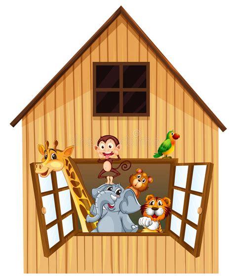 grange des animaux animaux et grange illustration de vecteur illustration du