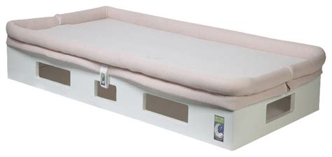 Breathable Crib Mattress Safesleep Breathable Crib Mattress White Base Light Pink Sleep Surface Modern Crib