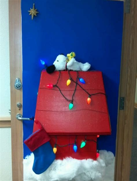 snoopy s christmas my door for decorated door contest at
