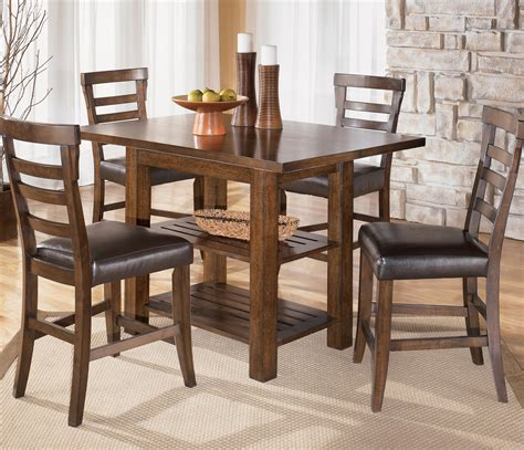square counter height dining table pinderton square counter height ext table by signature
