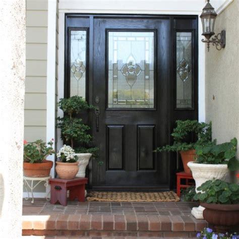 28 Best Front Door Images On Pinterest Black Front Doors How To Paint Front Door Black