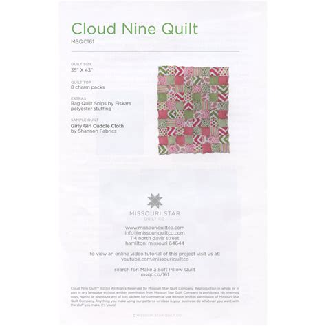 Missouri Quilt Co Coupon Codes by Cloud Nine Quilt Pattern The New Quilting Design