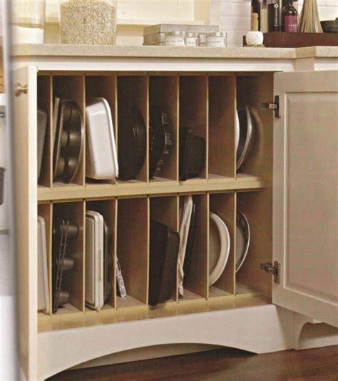 Baking Pan Storage | vertical pan storage in kitchen this should be standard
