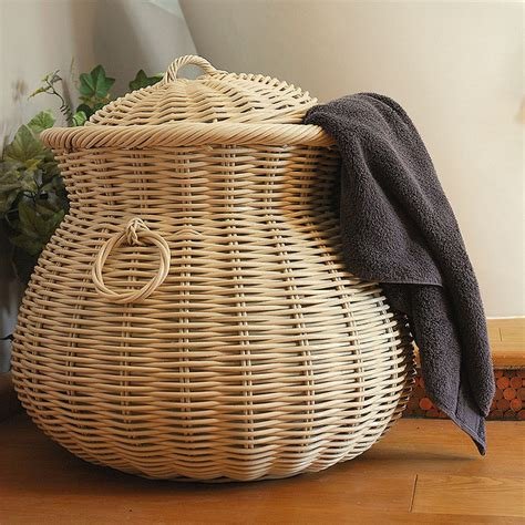 Wicker Hers For Laundry Wicker Hers For Laundry Oilcloth Lined Wicker Laundry