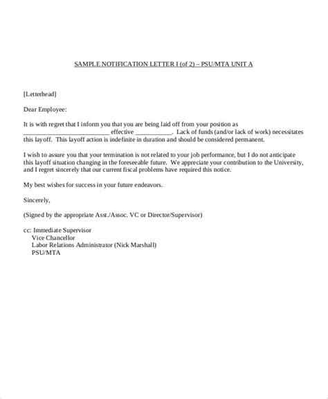19 notice letter exles sles